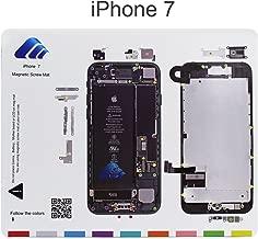DHong Design Magnetic Project Mat for iPhone 7 iPhone 6/6s Plus 5s / 5c / 5 / 4s / 4 Screw Mat Repair Guide Pad Screw Keeper Chart Map Professional Guide Pad Repair Tools (For iPhone 7)