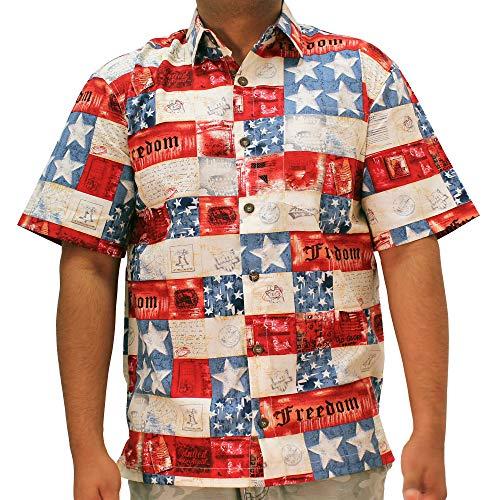 Patriotic Hawaiian Shirt (XLarge, Multi)