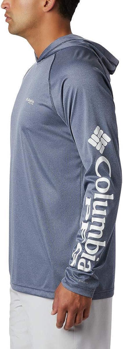 Columbia Terminal Tackle Heather Hoodie Sweats à Capuche Athletic Homme Logo Collegiate Bleu Marine/Blanc.