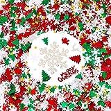GWHOLE Confeti Navidad de Colores 100g / 4800 Unidades de Forma Papá Noel Copos...