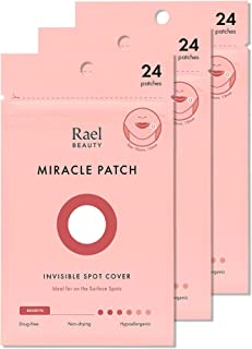 Rael Hydrocolloid Acne Pimple Healing Patch 3 Packs(Invisible, 72 count)