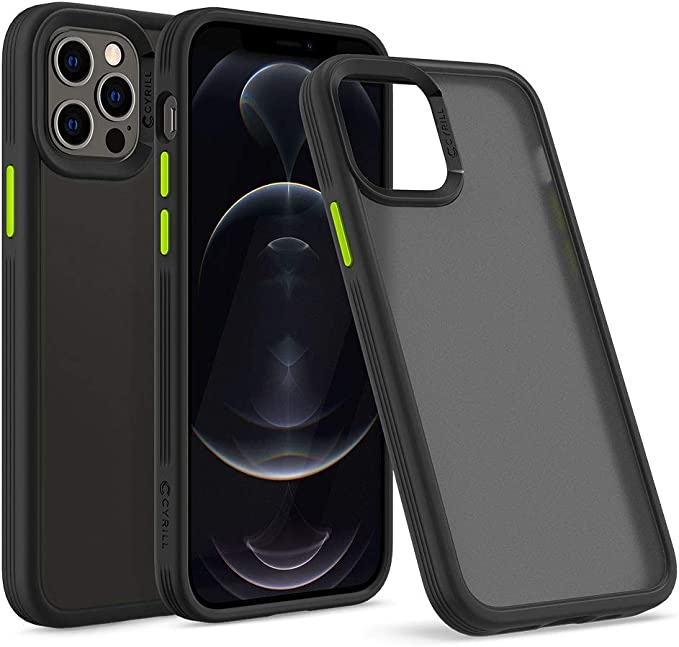 CYRILL Color Brick Designed for iPhone 12 case (2020), iPhone 12 Pro Case (2020) - Black