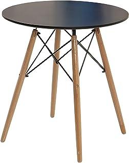 ZXYSR Table Scandinave A Manger, Facile À Installer Ronde Table Imperméable Résistant Aux Taches Et Facile À Nettoyer Rond...