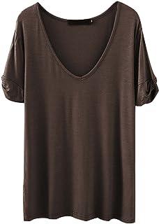 795be1934bcf09 SheIn Women s Summer Short Sleeve Loose Casual Tee T-Shirt
