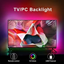 SolarLang LED TV Backlight kit with Remote , 9.9ft Suitable for 40-65 inch TV -16 Colors 4 Dynamic Lighting Effects, Bias ...
