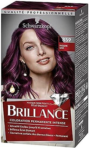 Schwarzkopf - Brillance - Coloration Cheveux Permanente Intense - Avec de l'Huile - Couvre 100% des Cheveux Blancs - ...