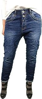 KAROSTAR Jeans K7-11 WEISS Reißverschluss STRETCH Italo Boyfriend GR.M-4XL TOP