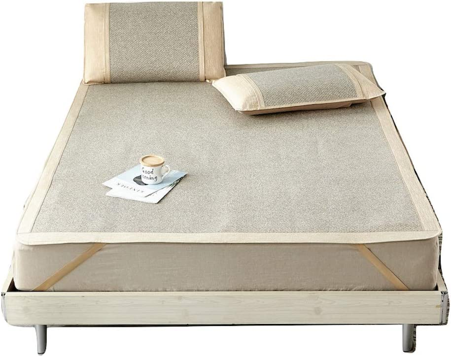 Houston Mall Qbedding Rattan Summer Sleeping Pad Directly managed store Mattress Pillow Sha Topper