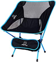 HXSD Outdoor Folding Chair, Portable, Ultra Light, Moon Chair, Aviation Aluminum Alloy, Fishing Stool, Leisure Chair Folding chair (Color : Clear)