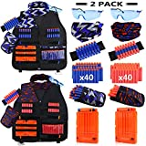 UWANTME 2 Pack Kids Tactical Vest Kit for Nerf Guns N-Strike Elite Series for Boys Girls