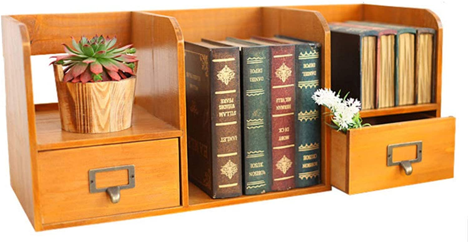 Yunfeng Shelves European Solid Wood Storage Cabinets Book Shelf Desktop Book Storage Shelves Home Crafts