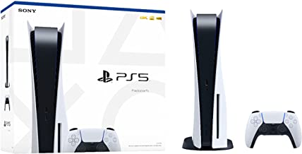 Sponsored Ad - Sony Playstation 5 Disc Edition 825GB Gaming Console + 1 Wireless Dual Charger Dock for PS5 Controller, 8-C...
