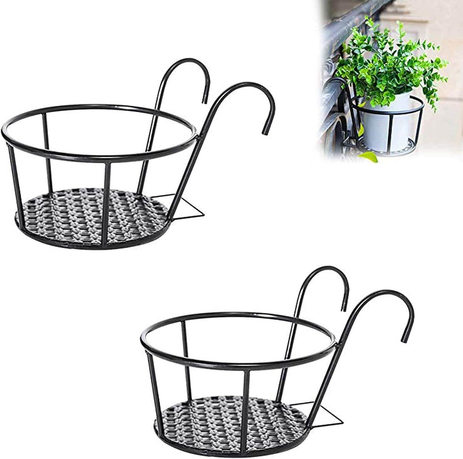 Hanging Max 49% OFF depot Railing Planters Baskets Basket Balcony Holder Plan Pot
