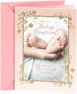 DaySpring Baptism Greeting Card for Baby Girls (Baby Feet)