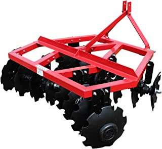 Titan Distributors Inc. Category 1 3 Point Notched Disc Harrow Plow for Kubota New Holland Tractors | 5 Feet