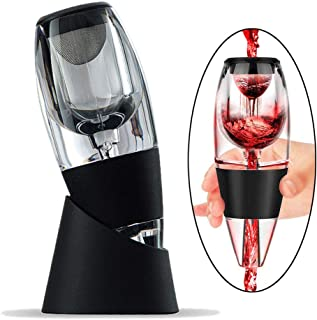 ZORTUNG Wine Aerator Decanter Pourer Spout Set With Filters for Purifier Stand Travel Bag Diffuser Air Aerating Strainer f...
