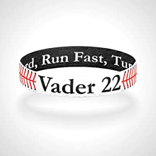#19 Tanel 360 Custom Baseball//Softball Wristbands Red