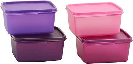 Tupperware Tupin Keep Tab Plastic Container Set (500 ml, Multicolour) -Set of 4