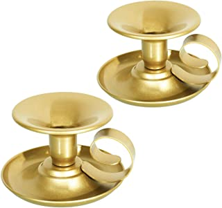 Wrought Iron Taper Candle Holder, Iron Candle Holders (Gold)