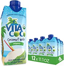 Vita Coco Organic Coconut Water, Pure - Naturally Hydrating Electrolyte Drink - Smart Alternative to Coffee, Soda, and Sports Drinks - Gluten Free - 11.1 Fluid Ounce (Pack of 12)