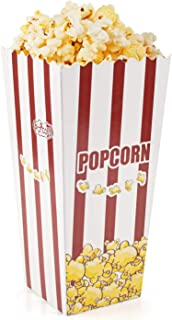 Lawei 100 Pack Open-Top Popcorn Boxes - 7.8 inch 46 oz Foldable Popcorn Containers