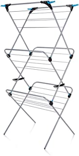 Minky Homecare 3 Tier Plus Drying Rack, 49', Silver