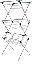 Minky Trio Concertina Plus Drying Rack, 49', Silver 3 tier with 21m