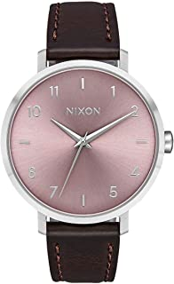 Nixon Arrow Casual Women's Watch (38mm. Leather Band) Silver/Pale Lavender