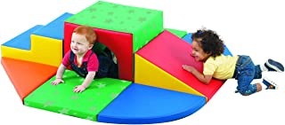 Children's Factory Soft Tunnel 9 Piece Set, Indoor Play Equipment, Toddler/Baby Crawling & Climbing Toys for Playroom/Homeschool/Classroom, Primary