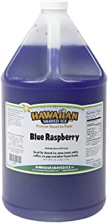 Hawaiian Shaved Ice Syrup, Blue Raspberry, Gallon