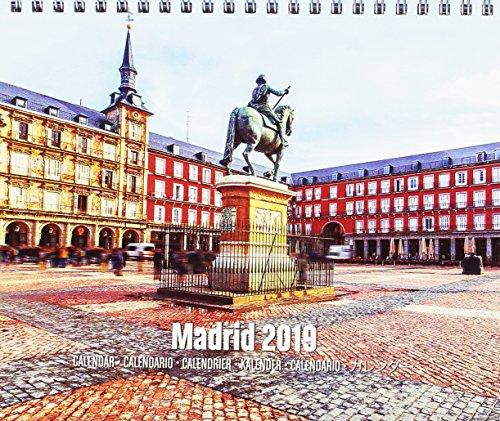 Grupo Erik Editores CS19026 Tafelkalender 2019 Madrid, 17 x 20 cm