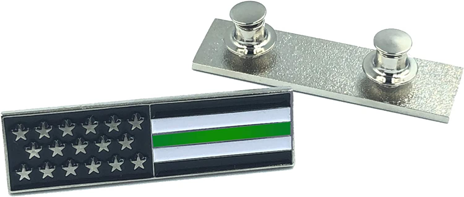 LEO Challenge Coins Thin Green Line U.S. Flag Commendation Bar Pin Border Patrol Security Military Army Marines