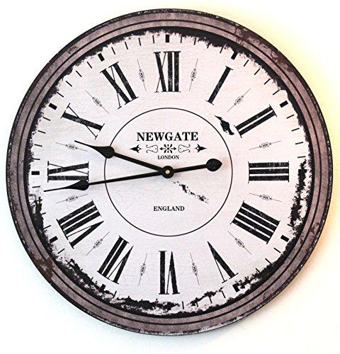 Reloj de pared grande de 60 cm, aspecto vintage, decoración interior para el hogar, cafetería, bar, hotel, oficina, idea de regalo