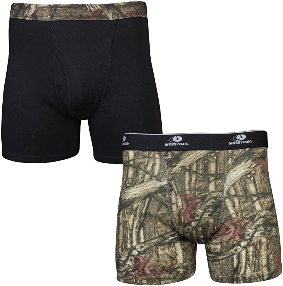 Mossy Oak Men's 2 Pack Boxers Briefs Two Pairs