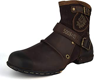 Suetar Men's Fashion Leather Martin Boots for Autumn and Winter LB5008-1