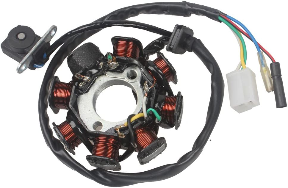 WEIYINGSI Ignition Stator Sale item Magneto 8 Coil 5 ☆ very popular for Replacement 5 Wires