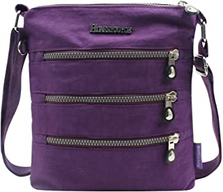Unisex Multi Pocket Nylon Crossbody Shoulder Bag Purse Casual Card Holder Clip Pouch Handbag for Women Men Travel