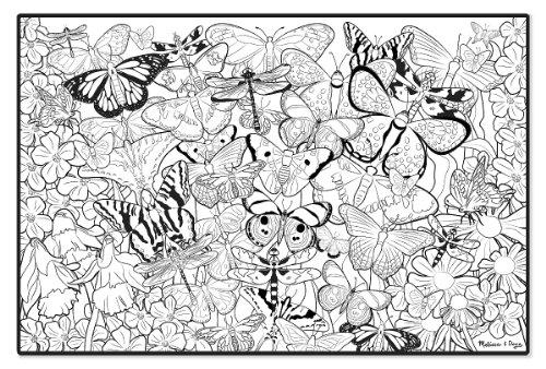 Melissa & Doug - 14500 - Livre À Colorier - Très Grande Affiche À Colorier - Papillons
