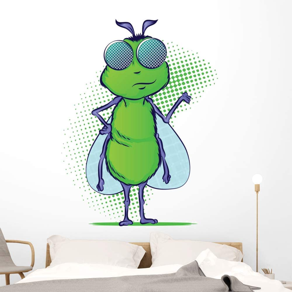 Wallmonkeys Insect Special sale item Cartoon Character Wall Stick and Peel A Denver Mall Decal