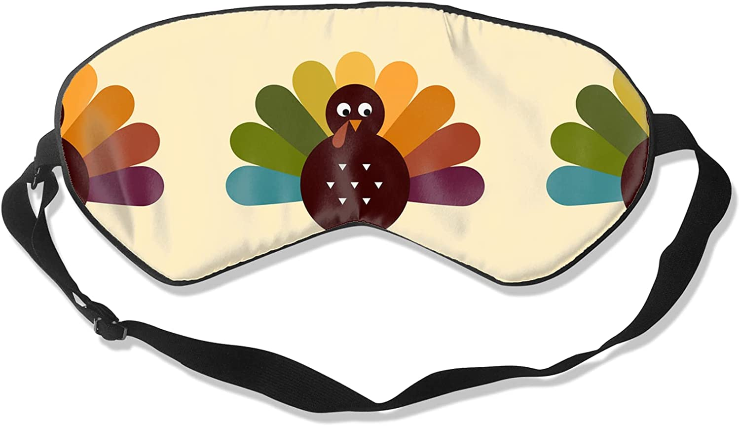 Cute Retro Thanksgiving Turkey Sleep Animer and price revision Breathable Eye Max 66% OFF So Blindfold