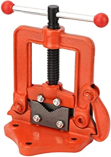 Vice Heavy-Duty Utility Cast Iron Table Rotating Clamp Pipe Vise Cross Flat Press Vise(50mm / 2in)