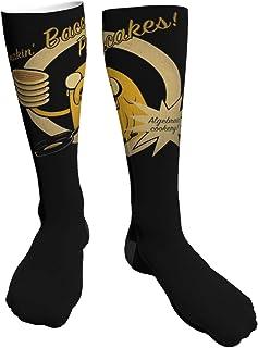 Yuanmeiju Calcetines gruesos y cálidos Adventure Time Comfortable Breathable 100% Cotton Heel Thick Socks