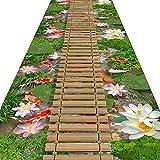 FUSHOU-Corredores De Pasillo Extralargos Tablero De Bambú Patrón De Puente De Eslinga Alfombrilla De Protección Del Piso Tiene Propiedades Antideslizantes Alfombra Fácil De Manejar,A,110x200cm