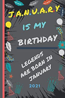 Legends are born in january but real Legends are born in january: Perfect RV Journal/Camping Diary or Gift for Campers: Ov...