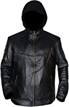 III-Fashions Chicago PD Jay Halstead (Jesse Lee Soffer) Hooded Biker Black Leather Jacket