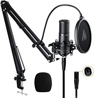 MAONO XLRマイク コンデンサーマイク マイクセット 単一指向性 配信用マイク アームスタンド/XLR-XLRケーブル付き 音響システム/アンプ/ミキサー向け 音楽製作/録音/生放送/YOUTUBE/ポッドキャストに適応(AU-PM320S)