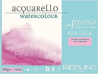 Fabriano Artistico 140 lb. Hot Press 20 Sheet Block 9x12
