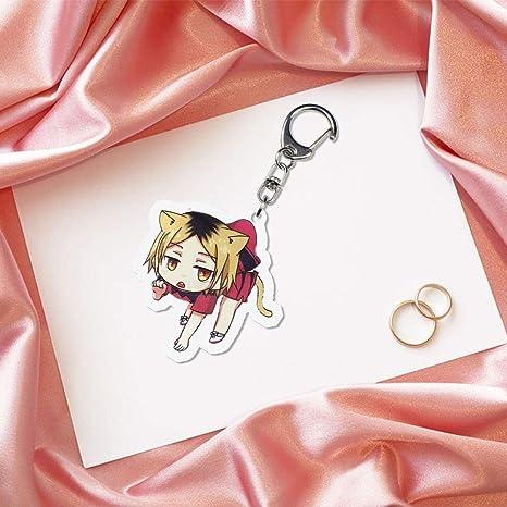 Pour cartable Dacitiery Anime Haikyuu Porte-cl/és en acrylique H01 Cl/é Trousse Style -B2