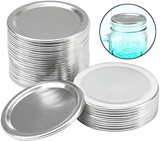 24 pack Canning Lids Regular Mouth Mason Jar Split-Type Lids with Silicone Seals Rings Mason Storage Metal Caps,sliver (No...