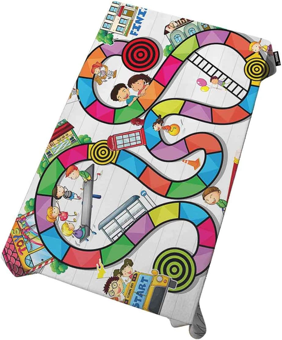 HOSNYE Boardgame Tablecloths Online limited product for Rectangle Cheap mail order shopping Build Tables and Kids